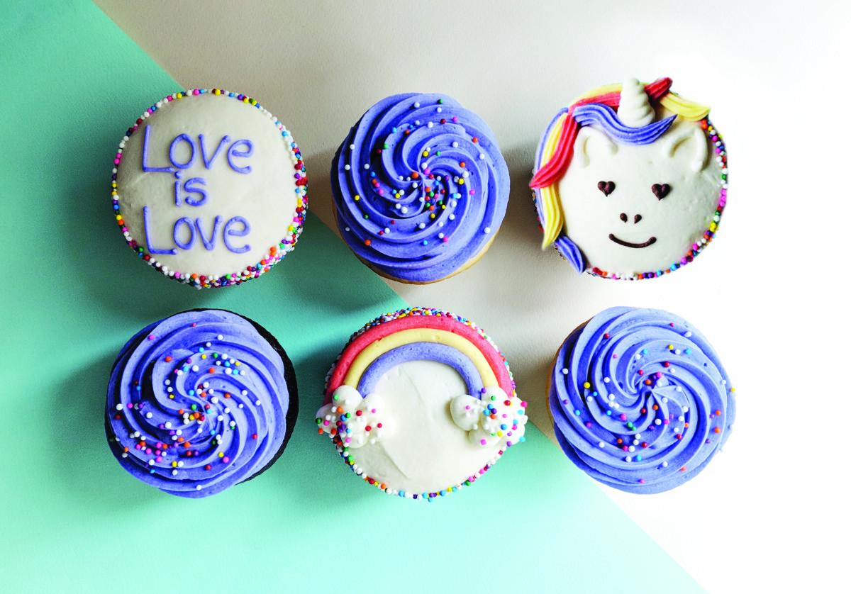 Purple Cupcakes for Calgary Pride. Photo courtesy Crave Cupcakes