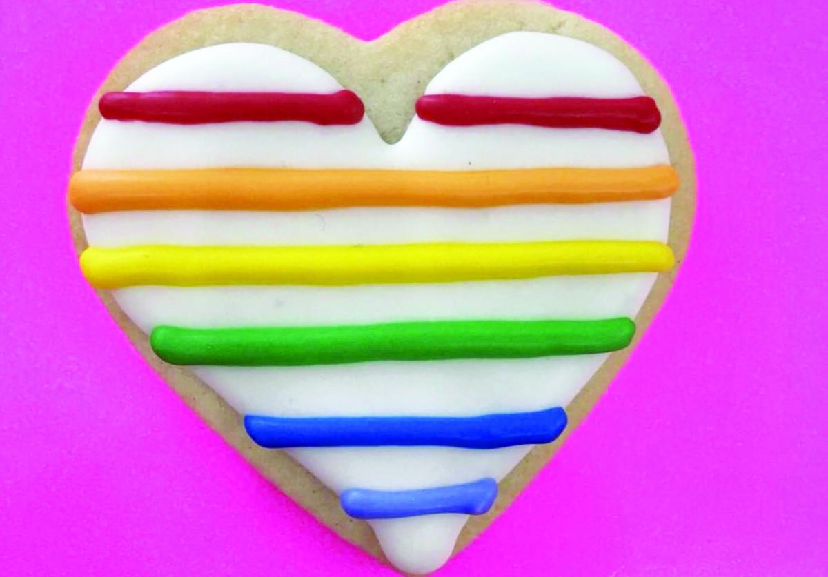 Rainbow Heart cookie. Photo courtesy Sweet Relief