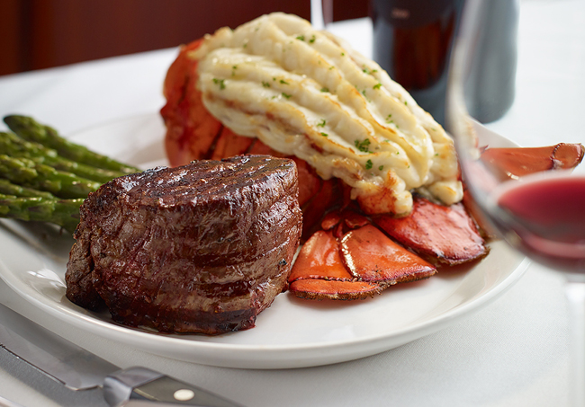 Steak and potatoes from Hys Steakhouse, one of the top 5 steakhouses in Calgary