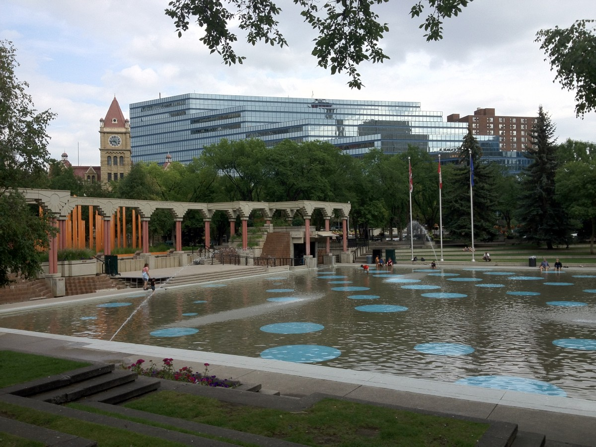 Free things to do with kids: Olympic Plaza. Photo by Adele Brunnhofer