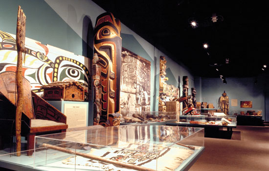 Indigenous cultures totems and displays at the Glenbow Museum
